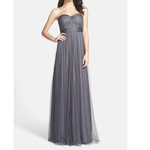 Jenny Yoo Annabelle Convertible Tulle Gown - Gray
